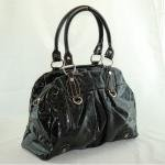 Fun Black Faux Leather Handbag
