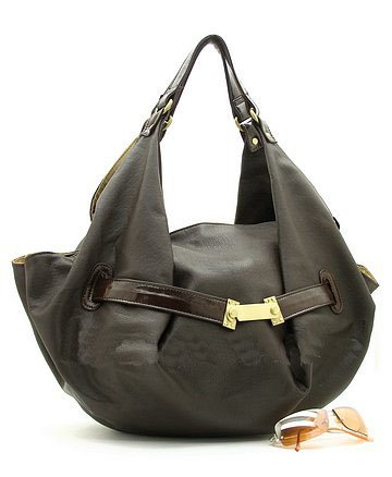 Flirty Dark Brown Handbag w/Gold Accents