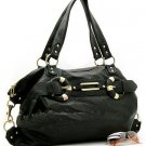 Flirty Black Handbag w/bronze accents