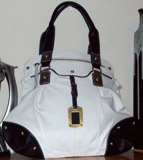 Fun White Handbag w/Silver accents
