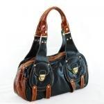 Fun Black/Dk Brown Handbag