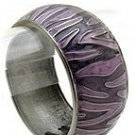 Fun Black/Purple Swirl Metal Cuff Bracelet