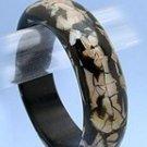 Fabulous Wooden Shell Bangle Bracelet