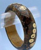 Fabulous Wooden Designed Bangle Bracelet