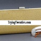 Fabulous Tan Textured Leather Clutch