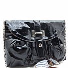 Fabulous Black Patent Leather Clutch