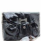 Fabulous Black Patent Leather Clutch