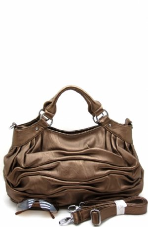 Fabulous Ruched Bronze Handbag