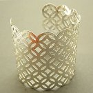 Fabulous Silver Geometric Cuff Bracelet