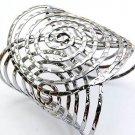 Fabulous Silver Large Circles Cuff Bracelet