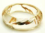 Fabulous Gold and  Clear Floral Bangle