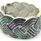 Fabulous Purple and Green Swirl Cuff