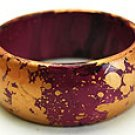 Fabulous Magenta and Gold Bangle
