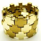 Fabulous Gold Tone Squares Bracelet