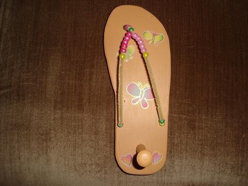 Wooden Flip Flop Key Holders