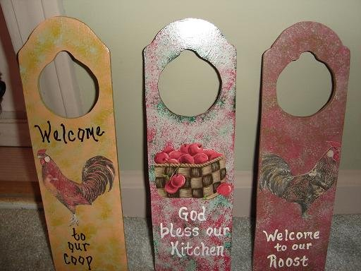 Decorated Door Hangers