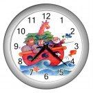 Cartoon NOAH'S ARK Baby Print Wall Clock Nursery Home Decor Gift Time 17760221