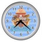 Blue NOAH'S ARK Baby Print Wall Clock Nursery Home Decor Gift Time 17760239