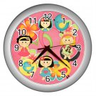 PINK GIRL Print Wall Clock Bedroom Home Decor Gift Time 17768612