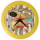 Boy's WESTERN COWBOY  Print Wall Clock Nursery or Bedroom Home Decor Gift Time 18690590