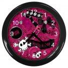 Purple Goth PUNK Print Wall Clock Home Decor Gift Time 18914122