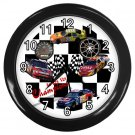 Nascar RACE CAR Print Wall Clock, Home Decor Gift Time 18914310