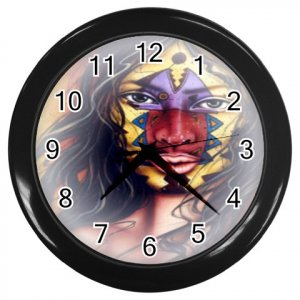 NATIVE AMERICAN Brave Print Wall Clock, Home Decor, Office Gift Time 18984495