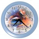 Blue Frame Woman NATIVE AMERICAN  Print Wall Clock, Home Decor, Office Gift Time 18985195