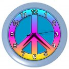 RETRO 70s PEACE SIGN Wall Clock, Home Decor, Office Gift Time 20565917