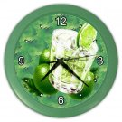 GREEN LIME DRINKS Wall Clock, Home Decor, Bar Clock, Kitchen Clock, Gift Time 20571479