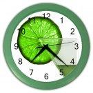 LIME GREEN GLASS DESIGN Wall Clock, Home Decor, Bar Clock, Kitchen Clock, Gift Time 20572015