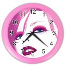 PINK FACE Wall Clock, Home Decor, Business, Office, Gift Time 20572264