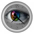 RAINBOW EYE ART Wall Clock, Home Decor, Business, Office, Gift Time 20572646