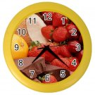 FRUIT AND CHOCOLATE Kitchen Wall Clock, Home Decor, Business, Office, Gift Time 20573914