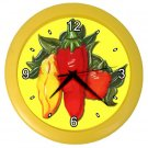 CHILI PEPPERS Kitchen Wall Clock, Home Decor, Business, Office, Gift Time 20574228