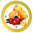 ORANGES AND MIXED FRUIT Kitchen Wall Clock, Home Decor, Business, Office, Gift Time 20574523