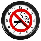 No Smoking Wall Clock Home Decor Office Gift Time 12199810