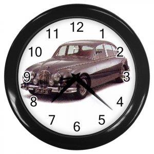 Jaquar MK II Black Wall Clock Home Decor Office Gift Time 15725014