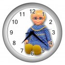 Mrs Beasley Silver Wall Clock Home Decor Office Gift Time 17519209