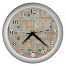 SCRABBLE GAMEBOARD Print Silver Wall Clock Home Decor Office Gift Time 17519255