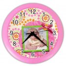 Baby CUSTOM Photo Pink frame Design Wall Clock Home Decor Office Gift Time 19377843
