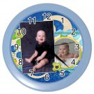 Photo CUSTOM Baby Boy Blue frame Design Wall Clock Home Decor Office Gift Time 19379105