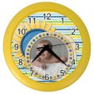 CUSTOM Baby Photo Yellow frame Design Wall Clock Home Decor Office Gift Time19378992