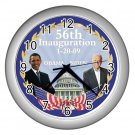 President Obama Biden Inauguration Silver Wall Clock Home Decor Office Gift Time 17654774
