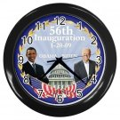 President Obama Biden Inauguration Black Wall Clock Home Decor Office Gift Time 17654773