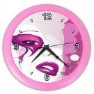 PINK ABSRACT FACE Design Wall Clock Home Decor Office Gift Time 21346902