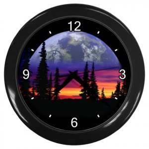 DARK EARTH Design Wall Clock Home Decor Office Gift Time 21345797