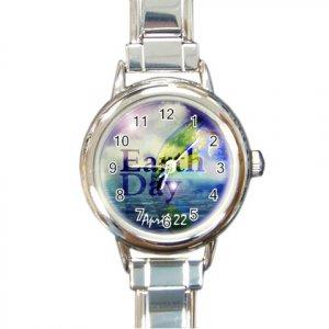 EARTHDAY Italian Charm Wrist Watch Round Jewelry 14431860
