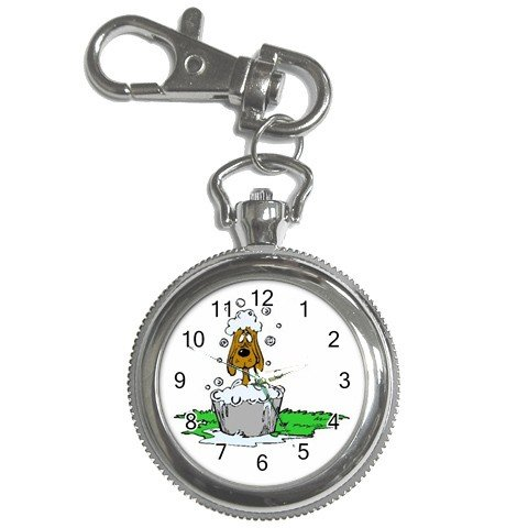 Grooming Dog Pocket Watch Clock Face Key Chain 14430703
