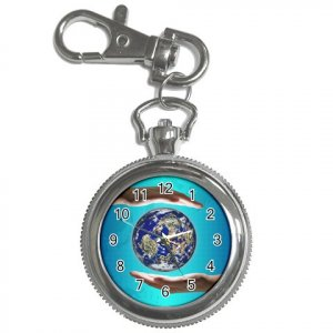 EARTHDAY Pocket Watch Clock Face Key Chain 14431851